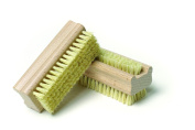 Pack of 2 Extra Tough Wooden Nail Brush With Firm Cactus Bristles