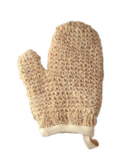 MAGIT Knit Brim Cotton Lined Handmade Superior Horsehair Mitt Close, White