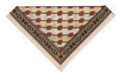 Cotton Handkerchief / Pocket Square - Beige Shield - in Clear Poly Case