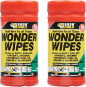 3 x Everbuild Wonder Wipes Antibacterial Cleaning Wipes 100 Sheets