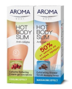 COMPLETE COOLING anti-cellulite cream-gel and body scrub AROMA HOT BODY