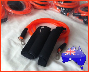 Resistance Band including Handles - TapouT XT - Yoga - Pilates - Insanity - Focus T25 - P90X - ABS workouts and many more - Australia Wide Registered Post included