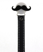 Big Moustache with Black Ribbon Soothie Holder