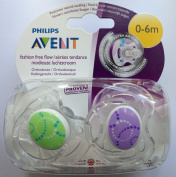 Philips Avent Fashion Free Flow Soother Twin Pack 0-6m