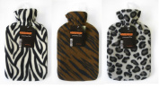 Luxury Soft & Cosy Fleece Animal Print Cover Large Hot Water Bottles