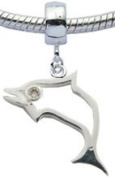 Dolphin Charms by BodyTrend- fits pandora & troll bracelets - hand polished and hand finished to fine jewellery standard