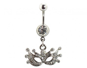 BONAMART ® Navel Belly Button Rings Dangle Sexy Body Piercing Surgical Steel