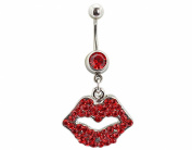BONAMART ® Navel Belly Button Rings Dangle Sexy Body Piercing Surgical Steel Lips