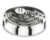 Lacor-68416-ROUND CAKE RING 16x4 CM.- STNLS