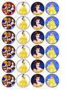 24 x Disney Princess BELLE Edible Cupcake Toppers
