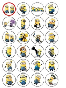 24 Minions Cupcake Toppers