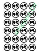 """24 x 1.5"""" (3.8cm) Wedding Newlyweds - Round edible cup cake topper decorations by Topped Off"""