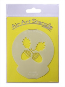 Acorns Cupcake Stencil - Reusable Flexible Food Grade Plastic Stencil for Cake and Craft Design, Airbrushing and more