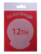 12TH Cupcake Stencil - Reusable Flexible Food Grade Plastic Stencil for Cake and Craft Design, Airbrushing and more