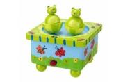Orange Tree Toys Wooden Frog Music Box