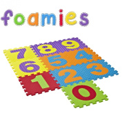 Foamies Soft Push-Out Numbers Playmat 10pcs With Storage Bag