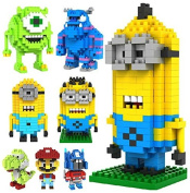BestCare Micro blocks 8 figures in set - Minion Kevin+Dave+ Stewart+Optimus Prime+Sulley+Mike+Snoopy+Simpson