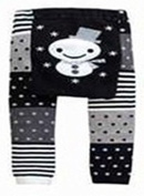 BABY TODDLER INFANT LEGGINGS TIGHTS PANTS UNISEX WITH ADORABLE ANIMAL DESIGN SNOWMAN SMALL