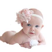 Ukamshop 1PC Super Cute Rhinestone Unusual Angel Girls Baby Pearl Flowers Hairband Headbands For Baby