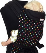 Palm and Pond Mei Tai Sling - Black & Multi Polka Dots Black