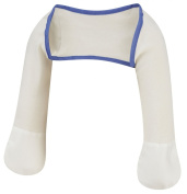 ScratchSleeves | Stay-on Scratch Mitts for Itchy Babies | Cream/Blue