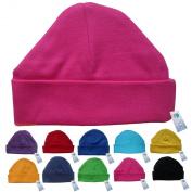 Newborn Baby Beanie Hat s (HOT PINK) - Plain Soft 100% Cotton headwear New Baby Grow Boy Clothing Girl Cute Mum Dad Mummy Daddy Custom Parent Birth Gift bib Present by Fonfella