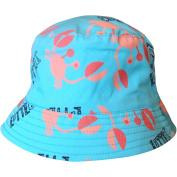 Baby Boys Blue Crabs & Robots Bucket Style Summer Sun Hat