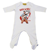 Elvis JAMBOREE Baby Grow White
