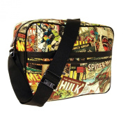 Marvel Comics Printed Comic Strip Style Messenger Bag - Official