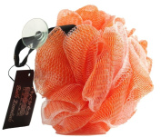 Large Exfoliating Body Puff / Scrunchie /Buffer - Orange - Bath & Shower