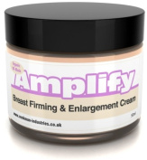 Amplify - 30 Day Breast Firming Cream - 11 Ways To A Fuller, Firmer Bust - FAST - UK Made 100% Natural & Organic - 50ml