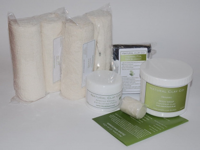 Mineral Clay Instant Inch-Loss Body Wrap Kit (multiple treatments)