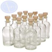 PACK of 12 - LOVELY 100ml Italian Bottles with Wooden Topped Corks