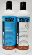 NATURAL WORLD ORIGINAL MOROCCAN ARGAN OIL MOISTURE REPAIR SHAMPOO & CONDITIONER 500ml
