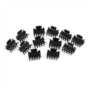 6 Pairs Plastic Black Mini Hair Claw Clip Hairpin Gift for Lady Girl
