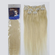 Forever Young Light Blonde #613 Clip In Human Hair Extension Half Head Set - 41cm Long