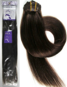 Grammy 24-70cm 7pcs Remy Clips In Human Hair Extensions 100-120gr With Clips For Highlight Or Full Head