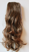60cm & 100g Hair Piece Clip In Pony Tail Extension Very LONG & SEXY Curled Wavy Heat-Resisting Like Real Human Hair (light brown mix #31/19/9