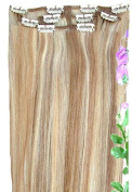 Forever Young Mixed Blonde #18/22 = #18/613 Clip In Human Hair Extension Half Head Set - 50cm Long