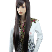 MelodySusie Dark Brown Wigs -Natural, Fashionable and Heat Resistant Straight Wigs, High Quality Wig with Wig Cap