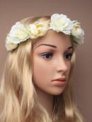 Cream Boho Festival Flower Headband Wedding Garland Forehead .Allsorts®