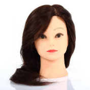 CoastCloud 60cm 80% Real Human Hair Hairdressing Practise Training Head Mannequin with Clamp