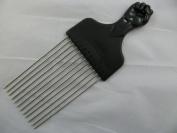 Fist handle design longer length metal teeth afro hair comb. Ideal for untangling hair.