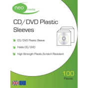 Neo Media CD/DVD Plastic Wallets - 100 Micron - High Quality -