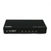 Neet® - 1x4 Port HDMI SPLITTER BOX (1 input 4 way output) - Active Distribution Amplifier - v1.3b 1080p Full HD - Display HD on 4 TVs *** 3D ENABLED ***