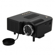 Excelvan® Portable HD LED Projector Cinema Theatre PC & Laptop VGA/USB/SD/AV/HDMI input black