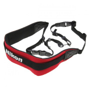Pro Neoprene Comfort Neck Strap with Nikon Logo. Wide fitting for DSLRs and large compact cameras