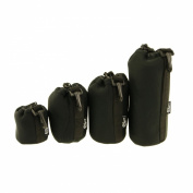 Ex-Pro Soft Neoprene Protective Lens Pouch Case Bag with Kit Hook for Camera