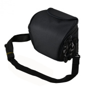 AAS Black Camera Case Bag for CANON POWERSHOT SX500 IS SX510 HS G1