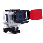 XCSOURCE® Red filter Underwater (10-20m / 33-66ft) Sea Scuba Dive Diving Snap On Water Colour filter For Gopro HERO 3 LF384
